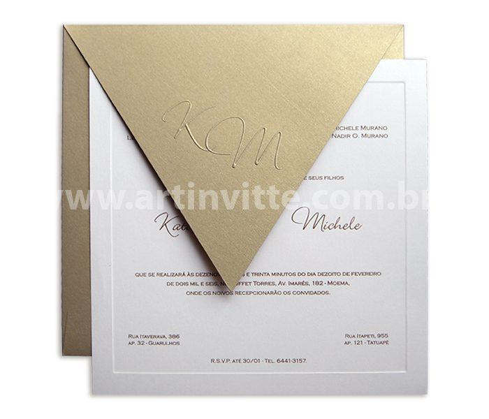 Convite de Casamento Veneza VZ 010