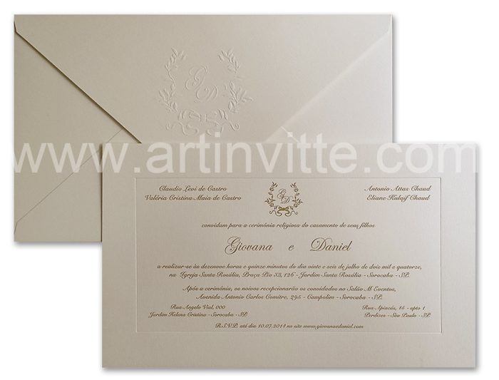 Convite de casamento Veneza VZ 034