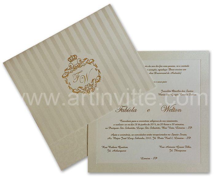 Convite de casamento barato Veneza VZ 035