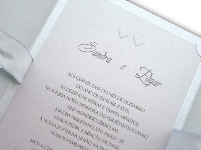 Relevo Americano - a impressão que é sinônimo de convites de casamento 21