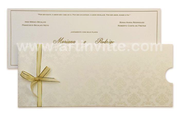 Convite de casamento Fronha FR 035