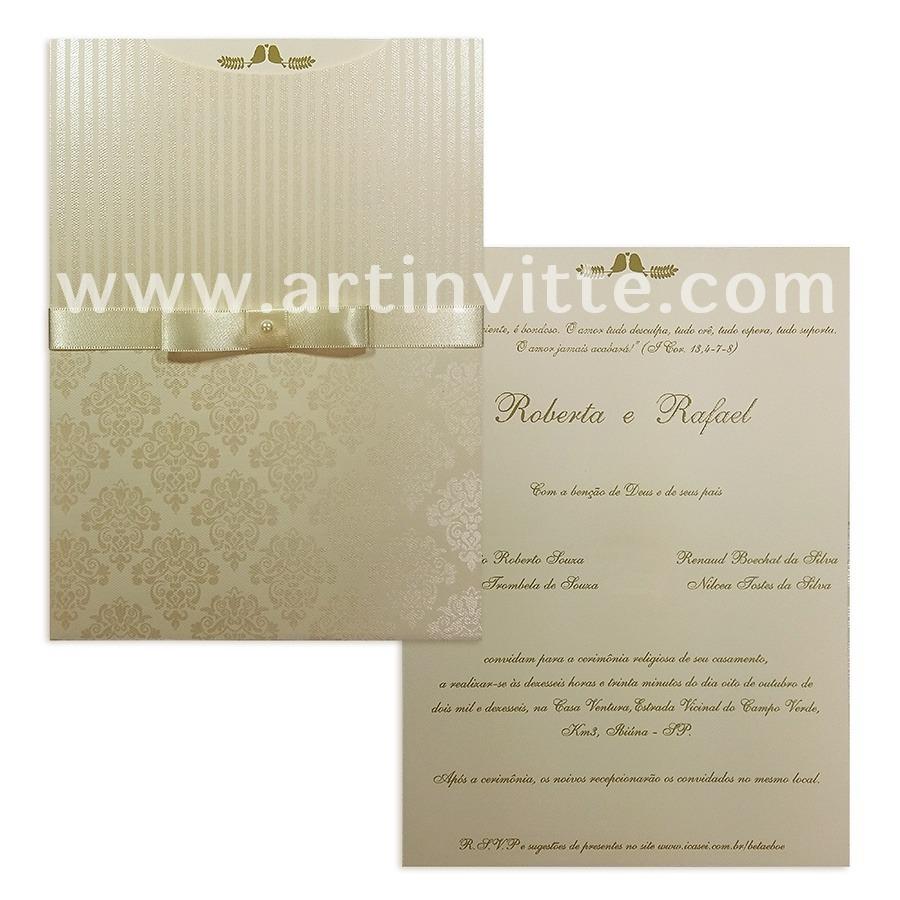 Convite de casamento FR 033