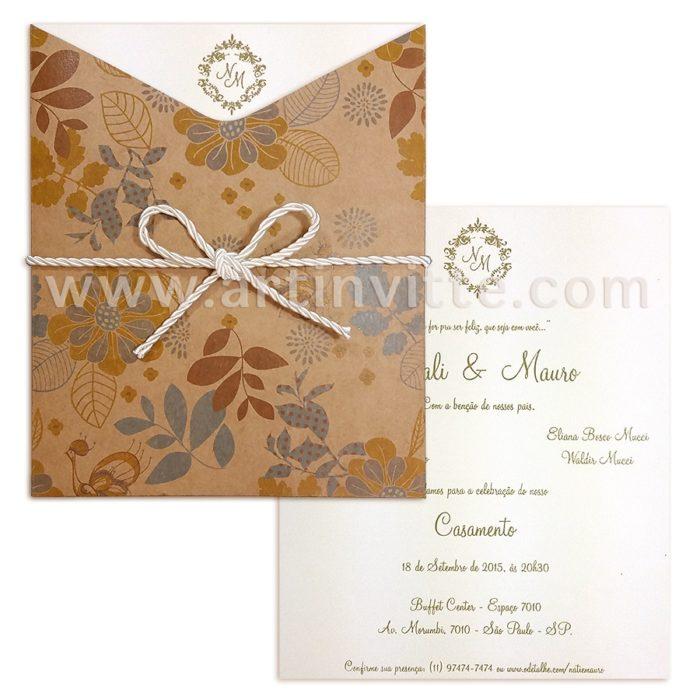 Convite de Casamento FR 044