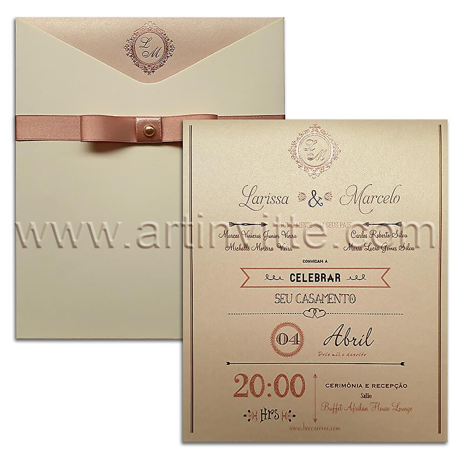 Convite de casamento Fronha FR 050