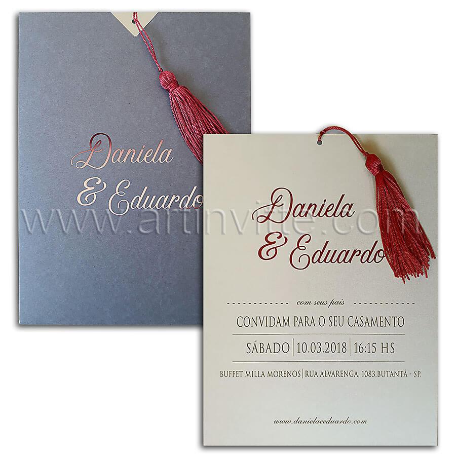 Convite de casamento modelo Fronha FR 054 – Art Invitte Convites