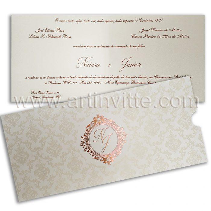 Convite de casamento moderno FR 061