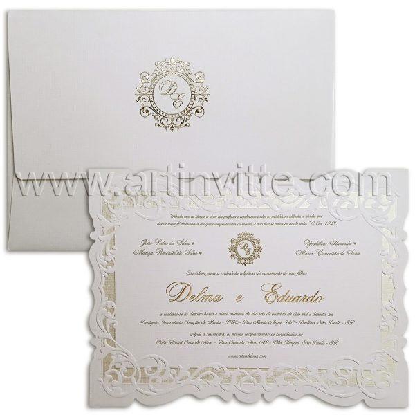 Convite de casamento romântico Sevilha SV 010