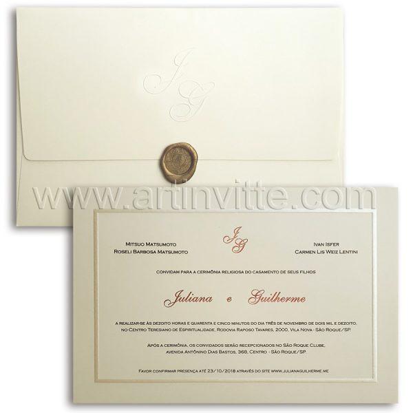 Convite de casamento tradicional Toronto TT032