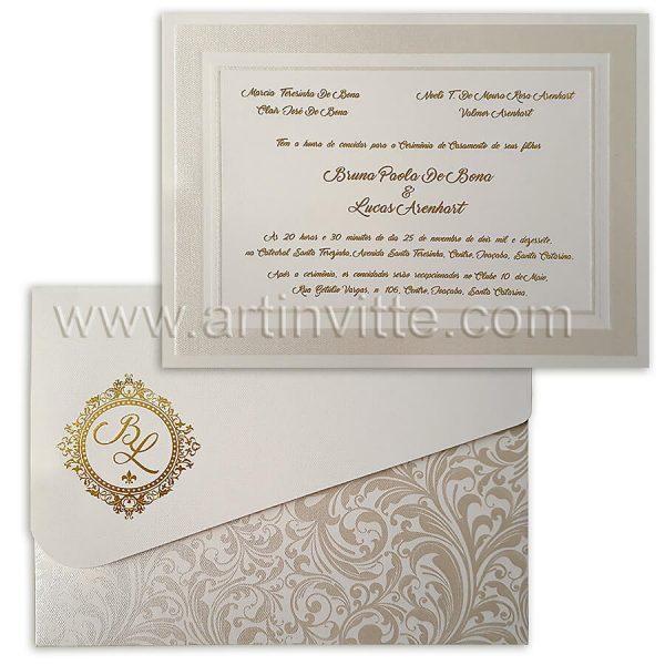 Convite de casamento tradicional Cozumel CZ 021