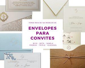 Compre envelopes para convites - aba reta, bico. janela, fronha, triplo