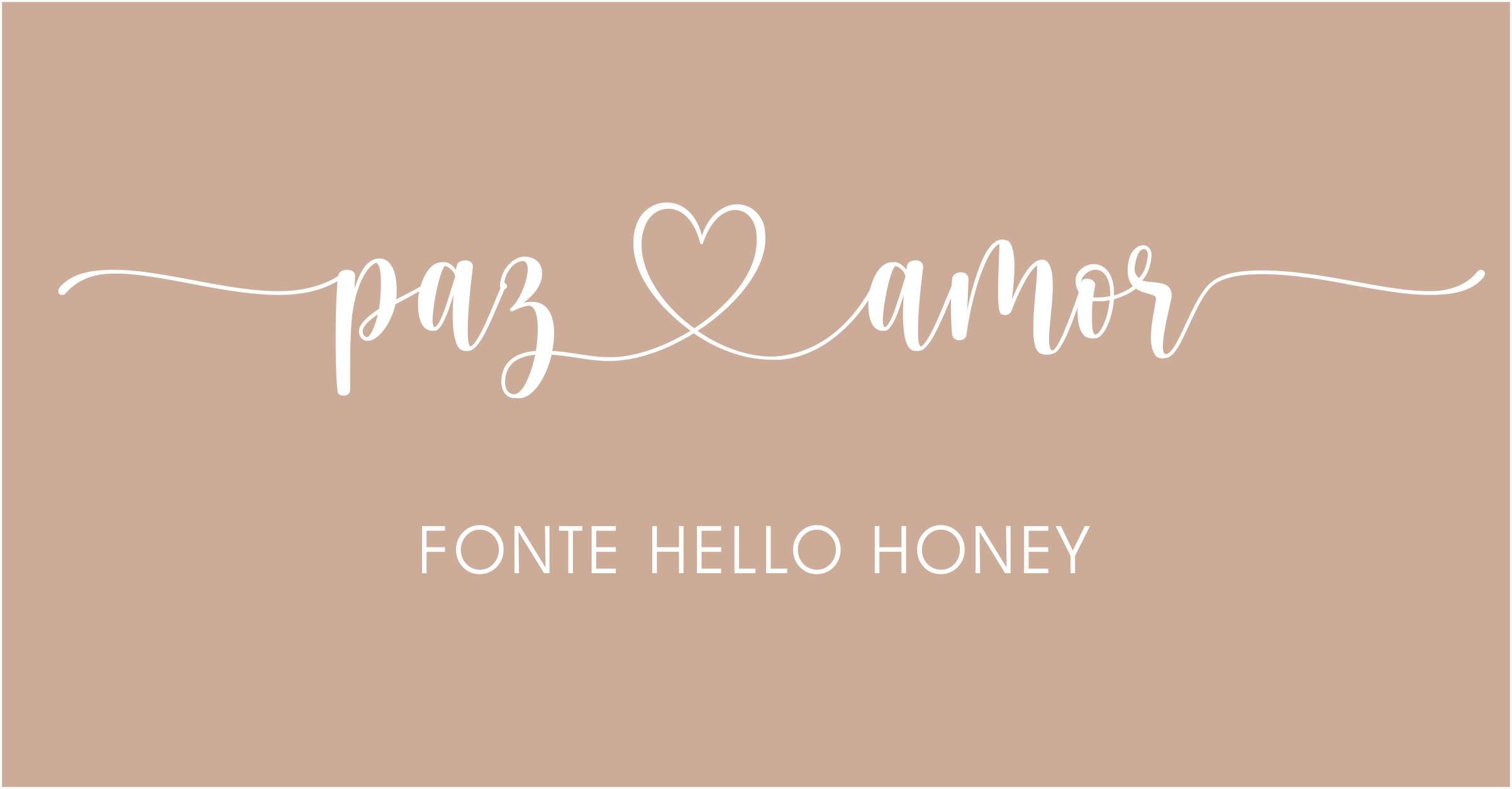 Letras com rabinhos para convites de casamento Hello Honey