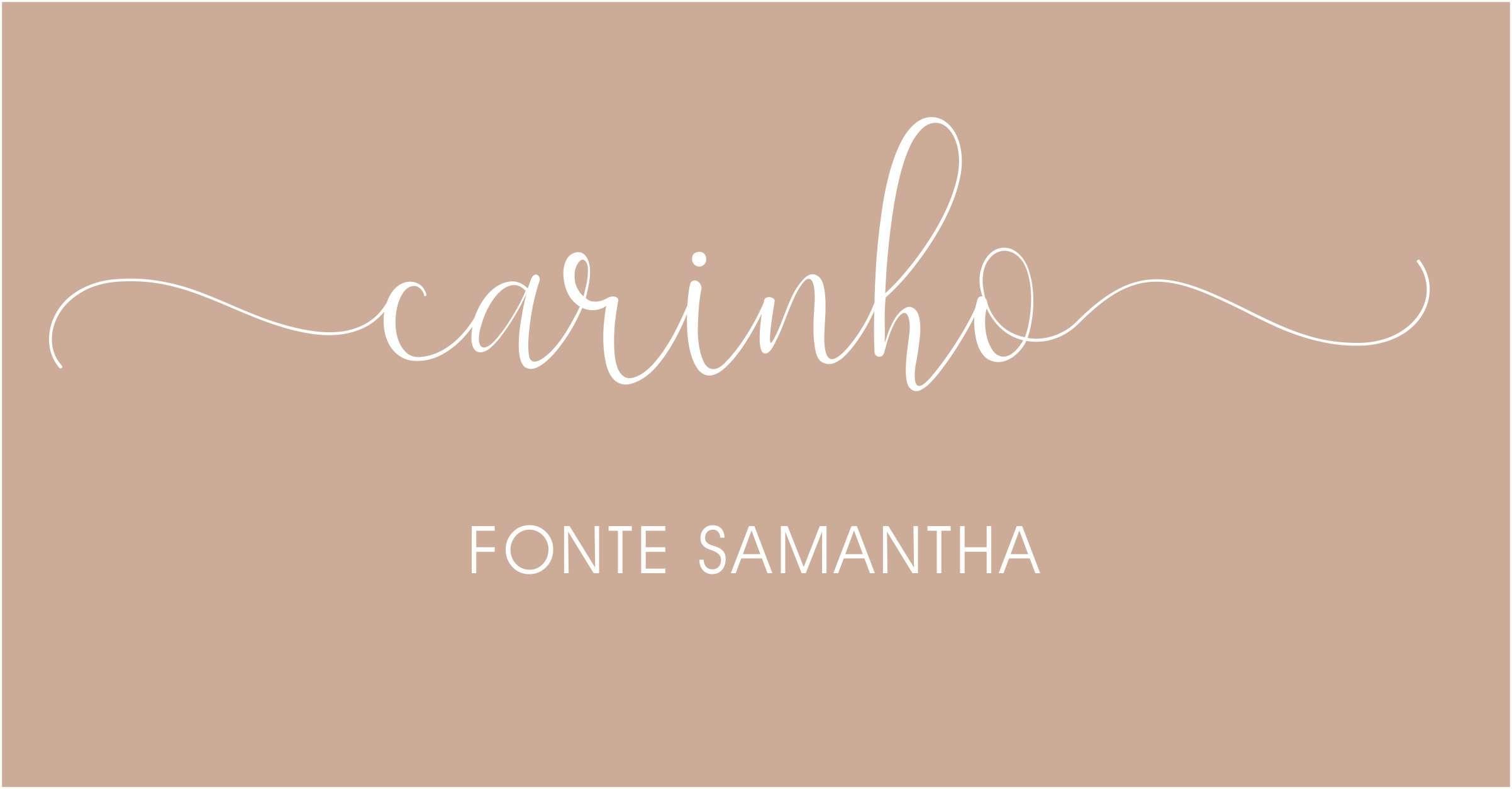 Letras com rabinhos para convites de casamento Samantha