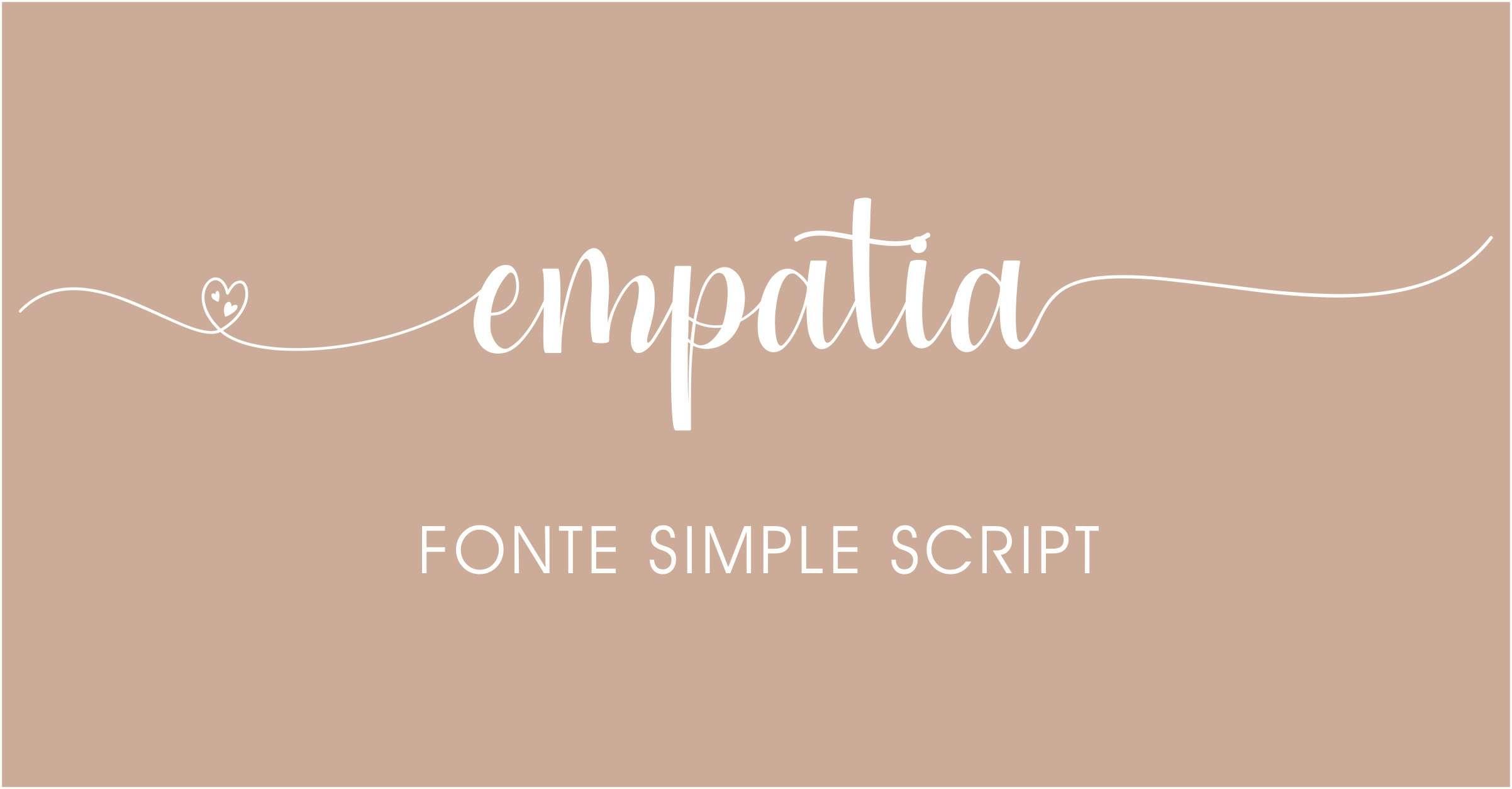 Letras com rabinhos para convites de casamento Simple Script