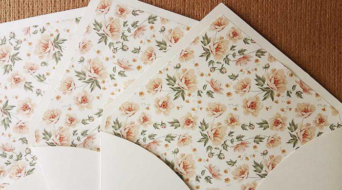 Forros para envelopes de convites de casamento e convites de 15 anos