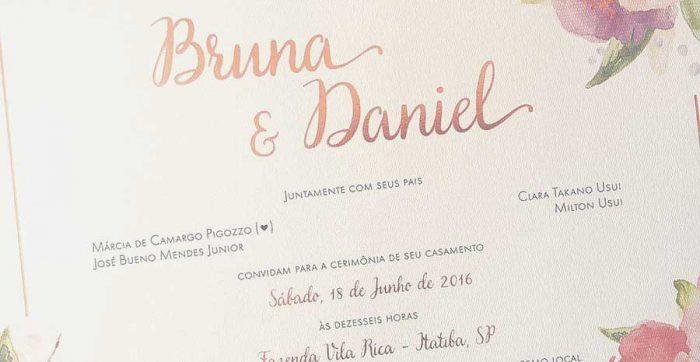 Letras e fontes para convites de casamento e de debutantes